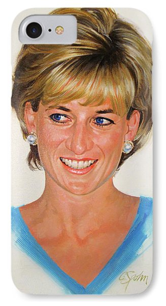 Princess Diana IPhone Case by Cliff Spohn