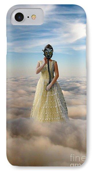 Princess In Gas Mask 3 Phone Case by Jill Battaglia