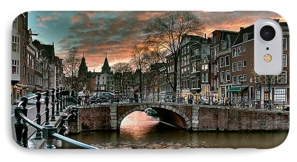 Prinsengracht And Reguliersgracht. Amsterdam IPhone Case by Juan Carlos Ferro Duque