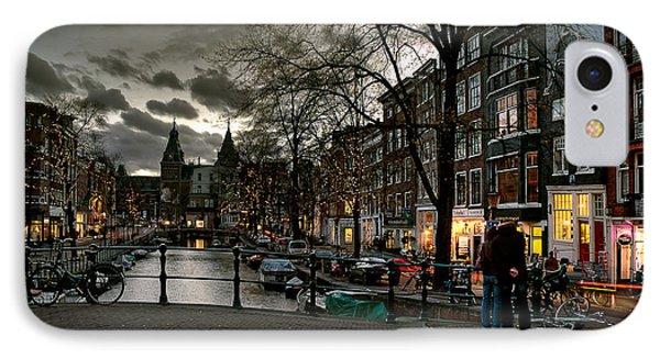 Prinsengracht And Spiegelgracht. Amsterdam IPhone Case by Juan Carlos Ferro Duque