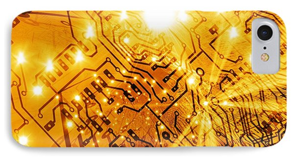 Printed Circuit Board, Artwork Phone Case by Mehau Kulyk