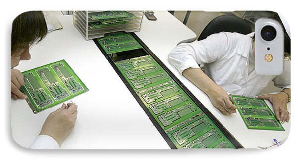 Printed Circuit Board Assembly Work Phone Case by Ria Novosti