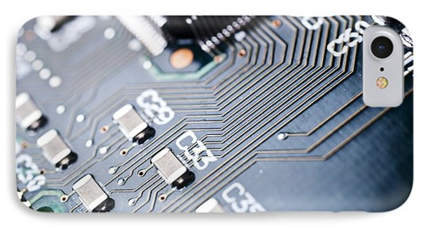 Printed Circuit Board Components Phone Case by Arno Massee