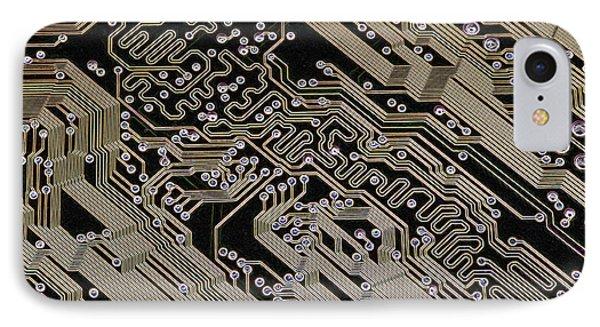 Printed Circuit Board, Computer Artwork Phone Case by Pasieka