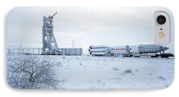Proton M Rocket Near Its Launch Pad Phone Case by Ria Novosti