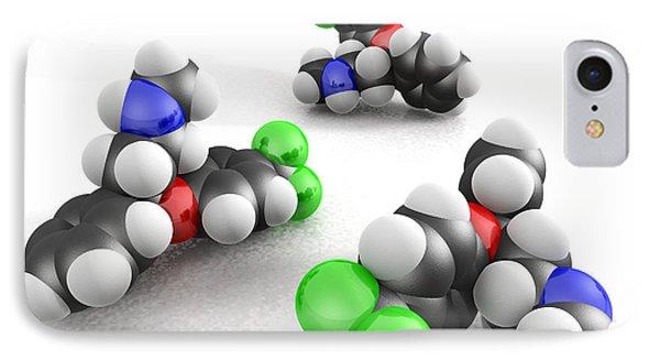 Prozac Molecules Phone Case by Phantatomix