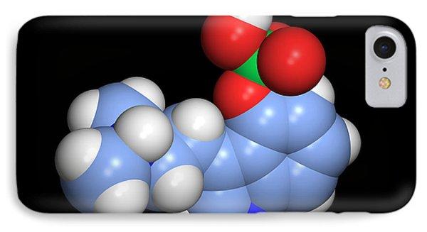 Psilocybin Hallucinogen Molecule Phone Case by Dr Tim Evans