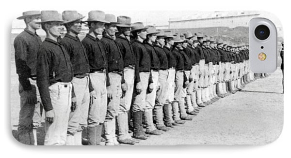 Puerto Ricans Serving In The American Colonial Army - C 1899 Phone Case by International  Images