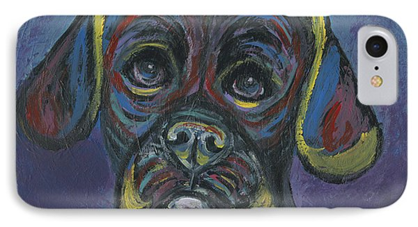 Puggle In Abstract IPhone Case by Ania M Milo