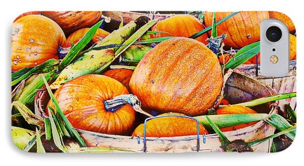 Pumpkin And Corn Combo IPhone Case by Ms Judi