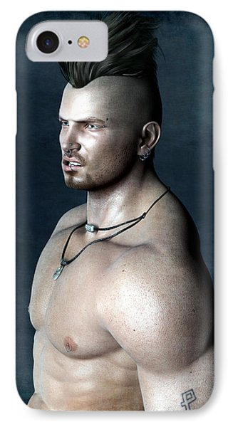 IPhone Case featuring the painting Punk by Maynard Ellis