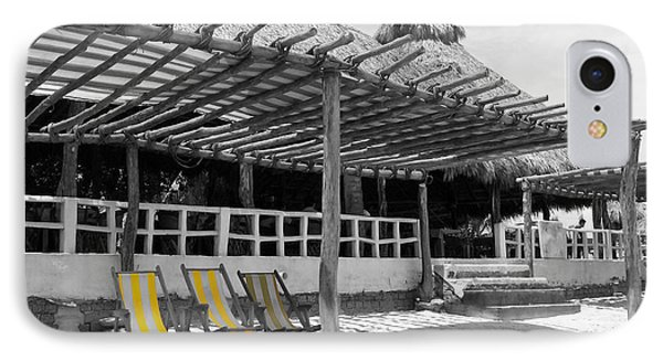 IPhone Case featuring the photograph Punta Mita North Of Puerto Vallarta Mexico Three Amigos Color Splash Black And White by Shawn O'Brien