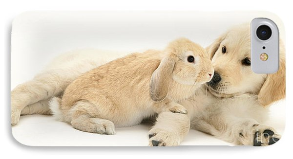 Pup With Rabbit IPhone Case