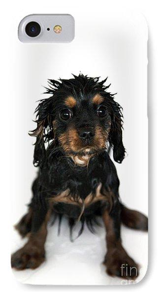 Puppy Bathtime Phone Case by Jane Rix