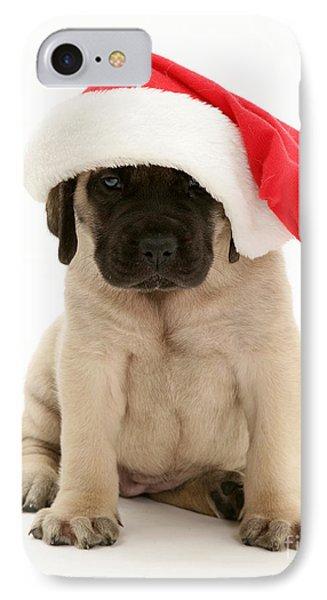 Puppy In A Santa Hat Phone Case by Jane Burton