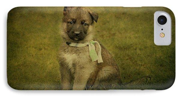 Puppy Sitting IPhone Case by Sandy Keeton