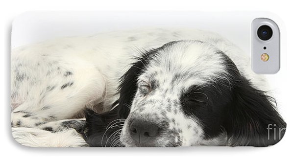 Puppy Sleeping Phone Case by Mark Taylor