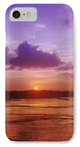 Purple And Orange Sunset Phone Case by Vince Cavataio - Printscapes