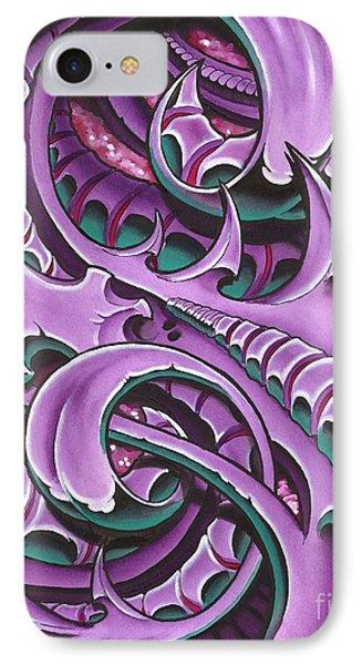 Purple Biomech IPhone Case by Joe Riley