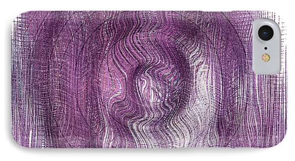 Purple Concentric Circles Phone Case by Bonnie Bruno