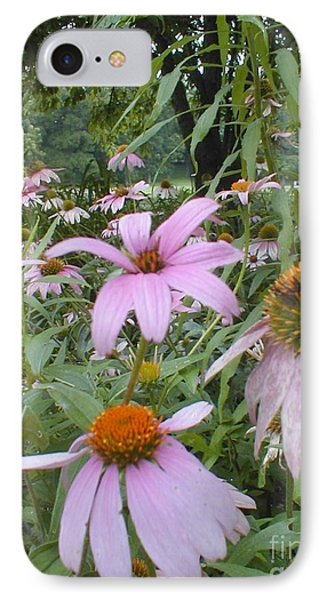 IPhone Case featuring the photograph Purple Coneflowers by Vonda Lawson-Rosa