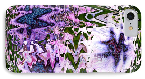 Purple Daisies World - Abstract Art IPhone Case by Carol Groenen