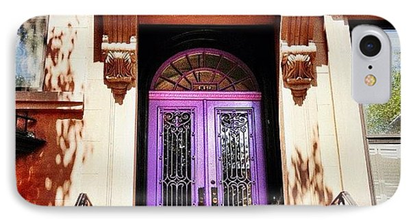Purple Door - Brooklyn - New York City IPhone Case by Vivienne Gucwa