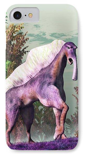 Purple Fantasy Creature IPhone Case by Daniel Eskridge