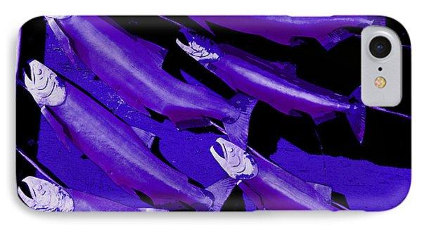 Purple Fish Art Phone Case by Kym Backland