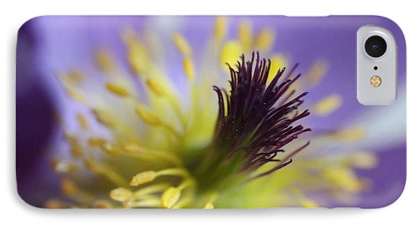 Purple Flower Center Phone Case by Mark J Seefeldt