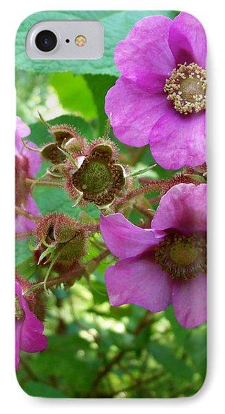 Purple-flowering Rasberry IPhone Case