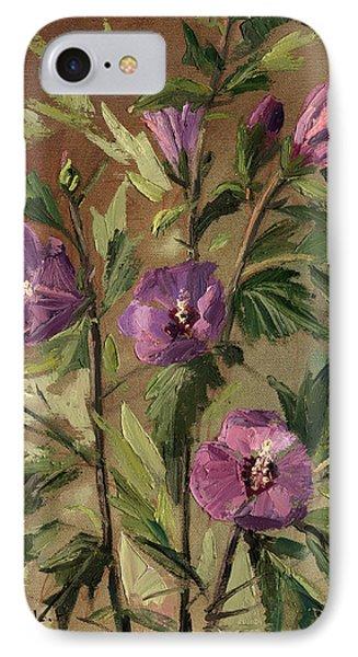 Purple Flowers 2 IPhone Case