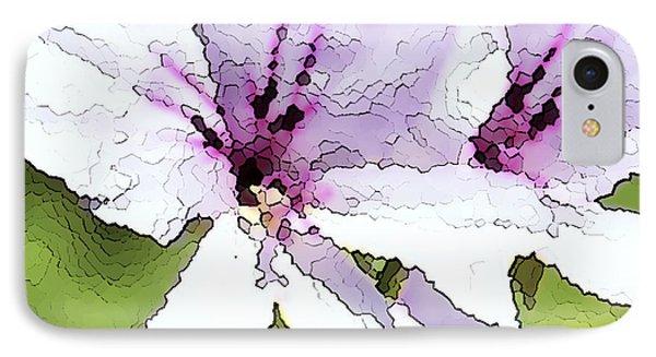 Purple Geranium Phone Case by Artist and Photographer Laura Wrede