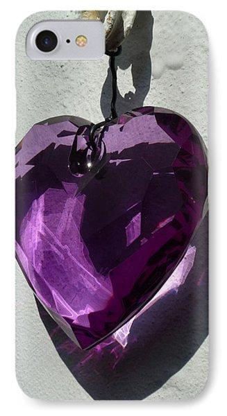 Purple Heart. IPhone Case