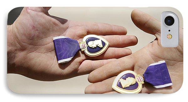 Purple Heart Recipients Display Phone Case by Stocktrek Images