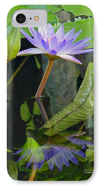 Purple Lotus Phone Case by Suzanne Gaff