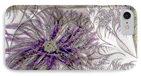 Purple Plume Phone Case by Michelle Frizzell-Thompson