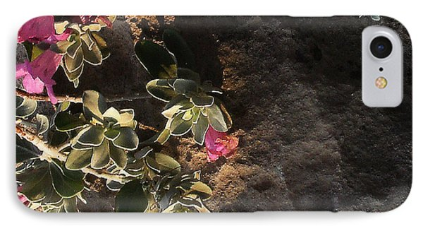 IPhone Case featuring the photograph Purple Sage And Desert Rock In Morning Light by Louis Nugent