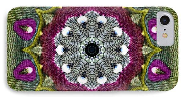 Purple Snakeskin Flower IPhone Case by Alec Drake