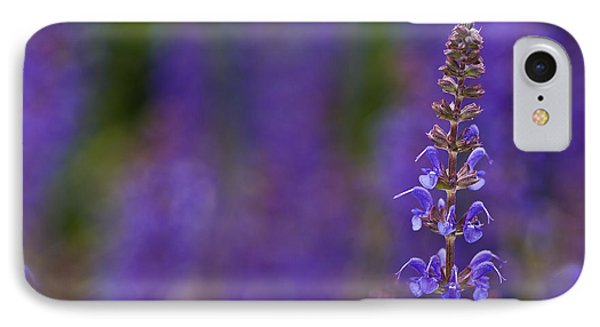 Purple Spires IPhone Case by Trevor Chriss