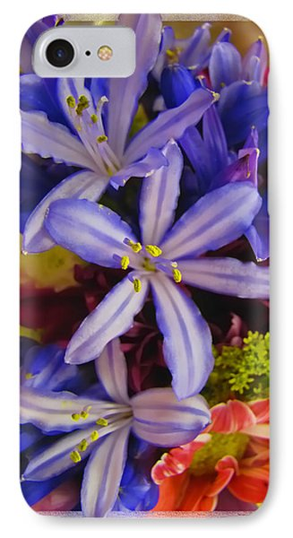 Purple Stars Phone Case by Debbie Portwood