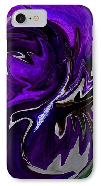 Purple Swirl IPhone Case by Karen Harrison