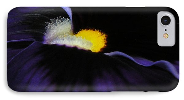 IPhone Case featuring the photograph Purple Viola Abstract by Deborah Smith