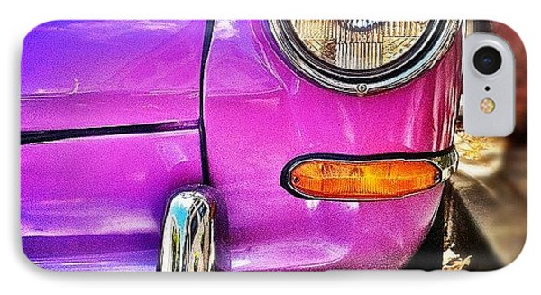 Purple Vw Bug IPhone Case by Julie Gebhardt