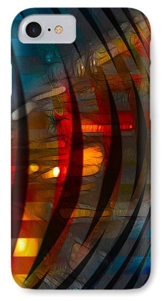 Pushing Paint  IPhone Case by Stuart Turnbull