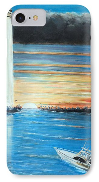 IPhone Case featuring the painting Put-in-bay Perry's Monument - International Peace Memorial  by Bernadette Krupa