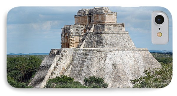 Pyramid Of The Magician At Uxmal Mexico IPhone Case by Shawn O'Brien