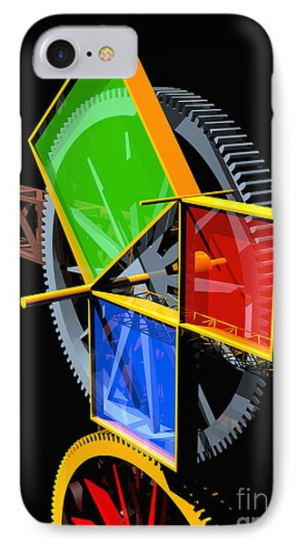 Pythagorean Machine Portrait 2 Phone Case by Russell Kightley