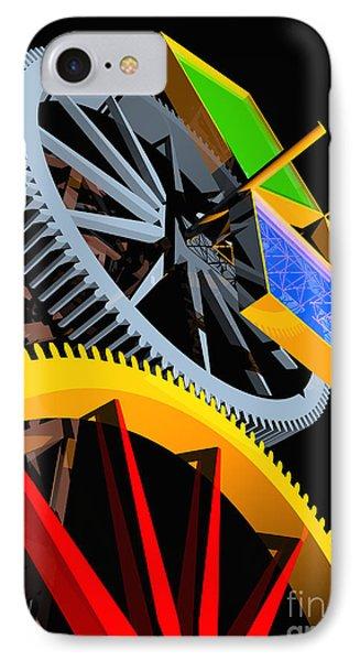 Pythagorean Machine Portrait 4 Phone Case by Russell Kightley