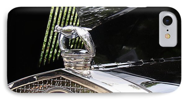 IPhone Case featuring the photograph Quail Radiator Cap- Ford by Nick Kloepping
